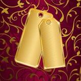 Golden label Royalty Free Stock Photos