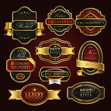 Golden label collection set Royalty Free Stock Photo
