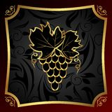 Golden label for packing wine Royalty Free Stock Photos