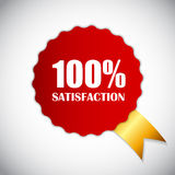 Golden Label 100 % Satisfaction Vector. Illustration. EPS10 Royalty Free Stock Images
