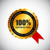 Golden Label 100 % Satisfaction Vector. Illustration. EPS10 Stock Photography