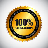 Golden Label 100 % Satisfaction Vector Royalty Free Stock Photos