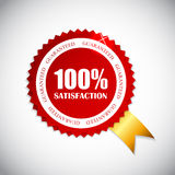 Golden Label 100 % Satisfaction Vector. Illustration. EPS10 Stock Photo