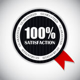 Golden Label 100 % Satisfaction Vector. Illustration. EPS10 Royalty Free Stock Image