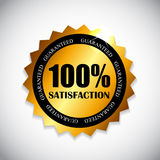 Golden Label 100 % Satisfaction Vector. Illustration. EPS10 Stock Images