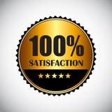 Golden Label 100 % Satisfaction Vector Stock Images
