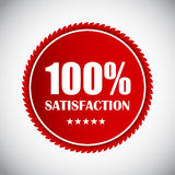 Golden Label 100 % Satisfaction Vector. Illustration. EPS10 Stock Image