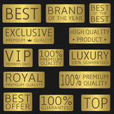 Golden label set Royalty Free Stock Photo