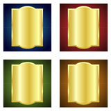 Golden labels stock illustration
