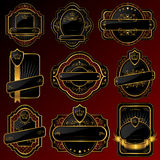 Golden labels Royalty Free Stock Images