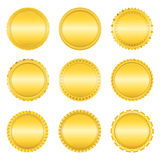 Golden Labels Stock Images