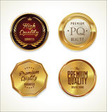 Golden Labels collection. Illustration Stock Images
