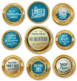 Golden labels collection Stock Images