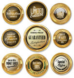 Golden labels collection Royalty Free Stock Photos