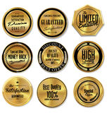 Golden labels collection Royalty Free Stock Image