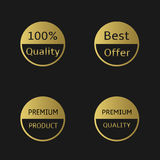 Golden labels Stock Photography