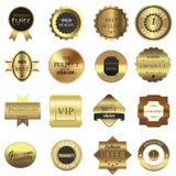 Golden Labels Set Royalty Free Stock Image