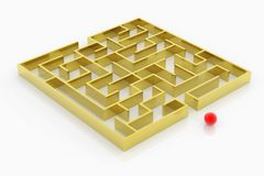 Golden labyrinth Royalty Free Stock Photos