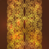 Golden Lace background of a vintage style Stock Photo