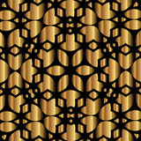 Golden lace design on black background Royalty Free Stock Photos