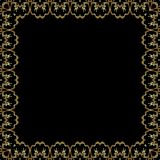 Golden lace pattern royalty free stock images