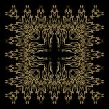 Golden lace pattern stock photo