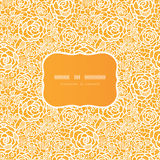 Golden lace roses frame seamless pattern Stock Image