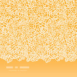Golden lace roses horizontal seamless pattern Stock Image
