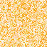 Golden lace roses seamless pattern background Royalty Free Stock Photo