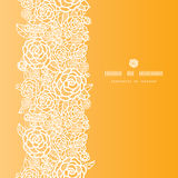 Golden lace roses vertical seamless pattern Royalty Free Stock Images