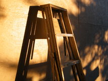 Golden Ladder. So humble, but a ladder leads somewhere, especially in this radiant sunshine Royalty Free Stock Photos