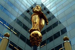 Golden Lady Fortuna in Rotterdam Royalty Free Stock Image