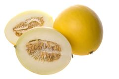 Golden Lady Melons Isolated Stock Photos