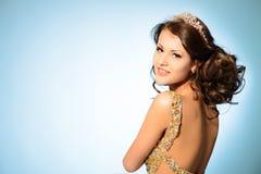 Golden lady Stock Image