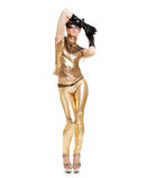 Golden lady posing Royalty Free Stock Photos