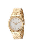 A golden lady wristwatch Royalty Free Stock Image