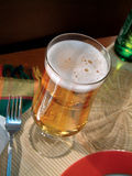 Golden lager beer Stock Images