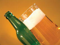 Golden lager beer drink Royalty Free Stock Images