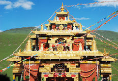 The golden lama temple Stock Image