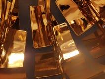 Golden lamp  close. Golden globus lamp,  close up Royalty Free Stock Photos