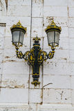 Golden lamps.Palace of Aranjuez, Madrid, Spain.World Heritage Si Royalty Free Stock Photography