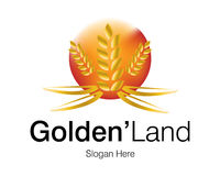 Golden Land Logo Royalty Free Stock Image