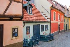 Golden Lane. In Prague Castle Stock Photos