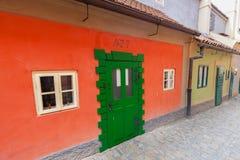 Golden Lane, Czech Zlata Ulicka in Prague, Czech Republic. Stock Photography