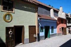 Golden lane homes of Prague Stock Photos