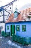 Golden Lane, Prague Castle, Czech Republic. Little blue old house from Golden Lane street situated in Prague Castle, Czech Republic. Golden Lane Street was stock photography