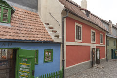 Golden Lane, Prague Castle. Homes along the Golden Lane in Prague Castle. Franz Kafka once lived here - although it has been suggested that the home really stock photography