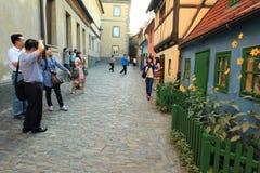 Golden Lane in Prague. Czech Republic stock photography