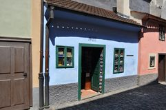Golden Lane, Prague, Czech Republic. Built in the 16th to house the castle guards stock images