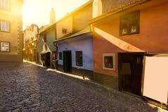 Golden Lane in Prague, Czech Republic Stock Photo